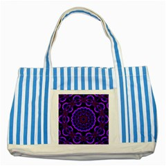 (16) Blue Striped Tote Bag by smokeart