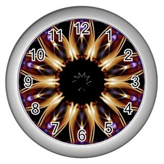 Smoke Art (17) Wall Clock (silver)