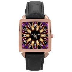 Smoke Art (17) Rose Gold Leather Watch  by smokeart