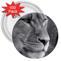Lion 1 3  Button (100 Pack) by smokeart