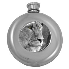 Lion 1 Hip Flask (round) by smokeart