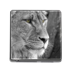 Lion 1 Memory Card Reader With Storage (square) by smokeart