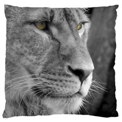 Lion 1 Large Cushion Case (one Side) by smokeart