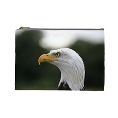 Bald Eagle (1) Cosmetic Bag (large) by smokeart