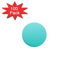 Celeste To Turquoise Gradient 1  Mini Button (100 Pack)