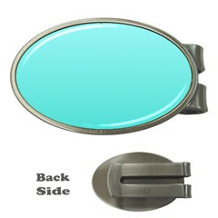 Celeste To Turquoise Gradient Money Clip (oval)