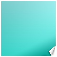 Celeste To Turquoise Gradient Canvas 12  X 12  (unframed)