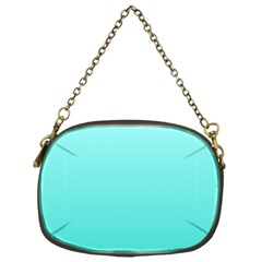 Celeste To Turquoise Gradient Chain Purse (one Side)