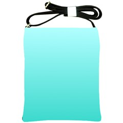 Celeste To Turquoise Gradient Shoulder Sling Bag