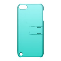 Celeste To Turquoise Gradient Apple Ipod Touch 5 Hardshell Case With Stand