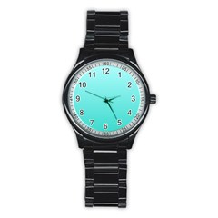 Celeste To Turquoise Gradient Sport Metal Watch (black)