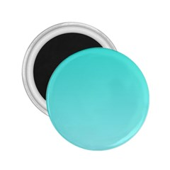 Turquoise To Celeste Gradient 2 25  Button Magnet by BestCustomGiftsForYou