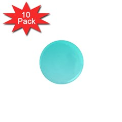 Turquoise To Celeste Gradient 1  Mini Button Magnet (10 Pack) by BestCustomGiftsForYou