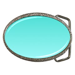 Turquoise To Celeste Gradient Belt Buckle (oval)