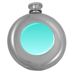 Turquoise To Celeste Gradient Hip Flask (round) by BestCustomGiftsForYou