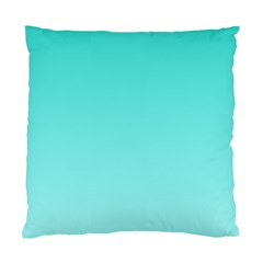 Turquoise To Celeste Gradient Cushion Case (one Side)