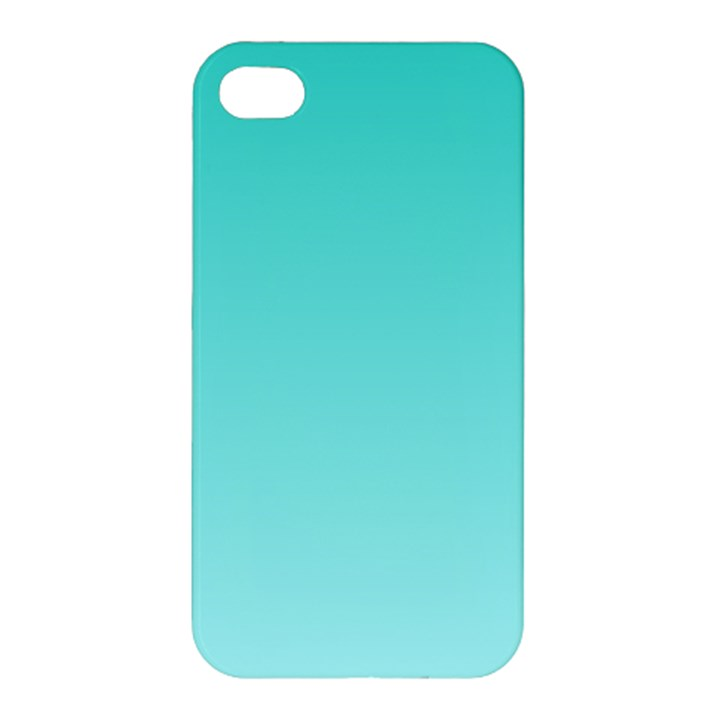 Turquoise To Celeste Gradient Apple iPhone 4/4S Premium Hardshell Case