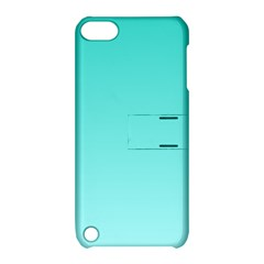 Turquoise To Celeste Gradient Apple Ipod Touch 5 Hardshell Case With Stand by BestCustomGiftsForYou