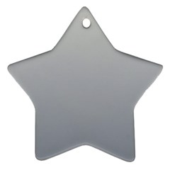 Gainsboro To Roman Silver Gradient Star Ornament