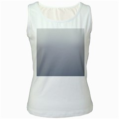 Gainsboro To Roman Silver Gradient Womens  Tank Top (white) by BestCustomGiftsForYou