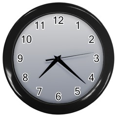 Gainsboro To Roman Silver Gradient Wall Clock (black) by BestCustomGiftsForYou
