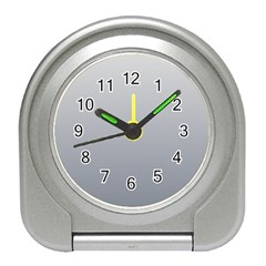 Gainsboro To Roman Silver Gradient Desk Alarm Clock by BestCustomGiftsForYou