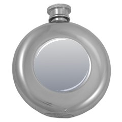 Gainsboro To Roman Silver Gradient Hip Flask (round) by BestCustomGiftsForYou