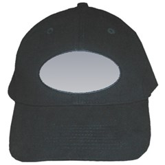 Roman Silver To Gainsboro Gradient Black Baseball Cap by BestCustomGiftsForYou
