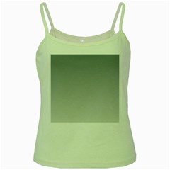 Roman Silver To Gainsboro Gradient Green Spaghetti Tank by BestCustomGiftsForYou