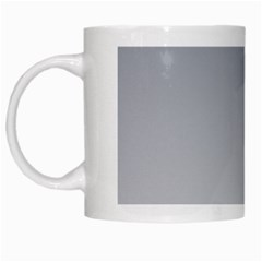 Roman Silver To Gainsboro Gradient White Coffee Mug by BestCustomGiftsForYou