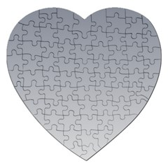 Roman Silver To Gainsboro Gradient Jigsaw Puzzle (heart) by BestCustomGiftsForYou