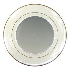 Roman Silver To Gainsboro Gradient Porcelain Display Plate by BestCustomGiftsForYou
