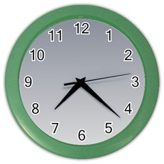 Roman Silver To Gainsboro Gradient Wall Clock (color) by BestCustomGiftsForYou