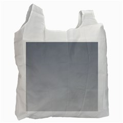 Roman Silver To Gainsboro Gradient Recycle Bag (two Sides) by BestCustomGiftsForYou