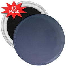 Charcoal To Cool Gray Gradient 3  Button Magnet (10 Pack) by BestCustomGiftsForYou