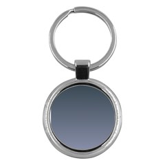 Charcoal To Cool Gray Gradient Key Chain (round) by BestCustomGiftsForYou