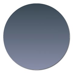 Charcoal To Cool Gray Gradient Magnet 5  (round) by BestCustomGiftsForYou