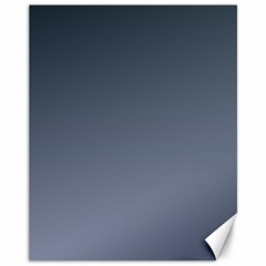 Charcoal To Cool Gray Gradient Canvas 11  X 14  (unframed) by BestCustomGiftsForYou