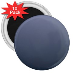 Cool Gray To Charcoal Gradient 3  Button Magnet (10 Pack) by BestCustomGiftsForYou