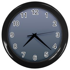 Cool Gray To Charcoal Gradient Wall Clock (black) by BestCustomGiftsForYou