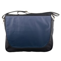Cool Gray To Charcoal Gradient Messenger Bag