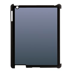 Cool Gray To Charcoal Gradient Apple Ipad 3/4 Case (black) by BestCustomGiftsForYou