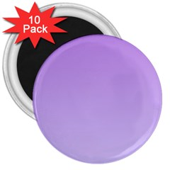 Lavender To Pale Lavender Gradient 3  Button Magnet (10 Pack) by BestCustomGiftsForYou