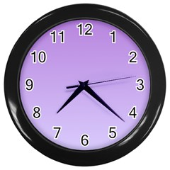 Lavender To Pale Lavender Gradient Wall Clock (black) by BestCustomGiftsForYou