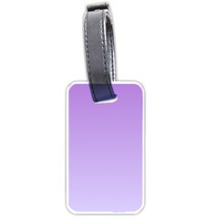 Lavender To Pale Lavender Gradient Luggage Tag (two Sides) by BestCustomGiftsForYou