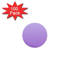 Pale Lavender To Lavender Gradient 1  Mini Button (100 Pack) by BestCustomGiftsForYou