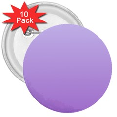 Pale Lavender To Lavender Gradient 3  Button (10 Pack) by BestCustomGiftsForYou