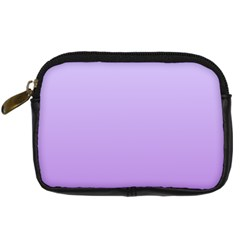 Pale Lavender To Lavender Gradient Digital Camera Leather Case by BestCustomGiftsForYou