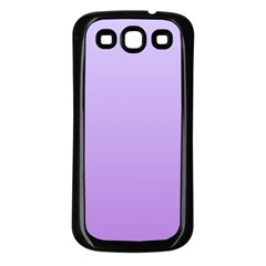 Pale Lavender To Lavender Gradient Samsung Galaxy S3 Back Case (black) by BestCustomGiftsForYou