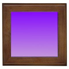 Violet To Wisteria Gradient Framed Ceramic Tile by BestCustomGiftsForYou